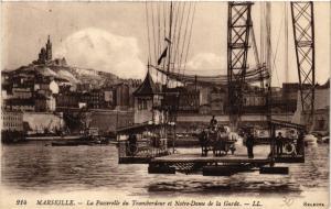 CPA MARSEILLE La Passerelle du Transbordeur et Notre Dame de la Garde (445074)