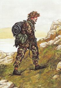 Military Art Postcard The Welsh Guards, Guardsman, Falkland Isles 1982 #31-5