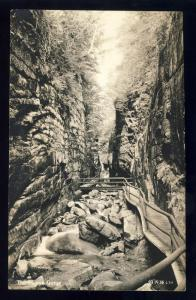 Franconia Notch, New Hampshire/NH Postcard, The Flume Gorge