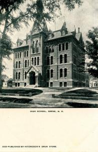 NH - Keene. Old High School, circa 1900