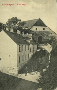 sweden, VARBERG, Fästningen (1910s) Postcard