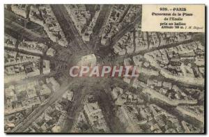 Old Postcard Aviation Zeppelin Airship Panorama of the place of & # 39Etoile ...