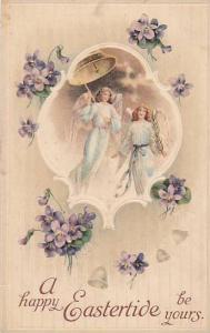 A Happy Easteride, Angels, Purple flowers, 00-10s