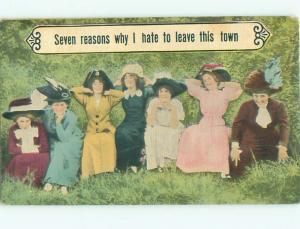 Divided-Back PRETTY WOMAN Risque Interest Postcard AA7893
