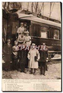 Old Postcard Forest of Compiegne armistice