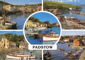 Cornwall Postcard, Padstow, Multi View by John Hinde Ltd S53