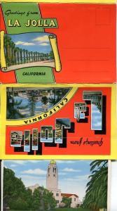 La Jolla linen California ca postcard folder FREE SHIP