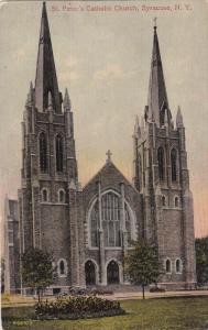 SYRACUSE, New York, 1900-1910's; St. Peter's Catholic Church