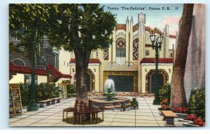 Ponce Puerto Rico PR Teatro Fox Delicias Movie House Shopping Mall Postcard D12