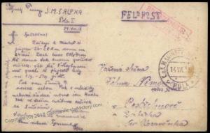 Austria WWI Navy Ship SMS Alpha Marine Feldpost RPPC Cover 62772