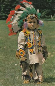 Red India Canadian Child With Headscarf Pint Size Indian 1970s Postcard