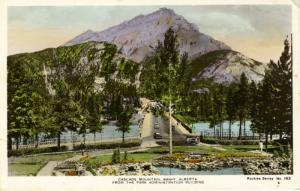 Postcard  Cascade Mountain, Banff Alberta AB. Canada Rocky Series No. 183. RPPC