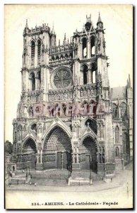 Old Postcard Amiens Facade