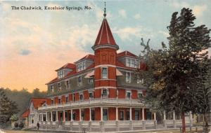 EXCELSIOR SPRINGS MISSOURI THE CHADWICK HOTEL POSTCARD 1910