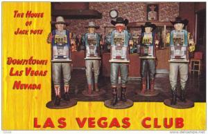 The House Of Jack Pots, Downtown Las Vegas, Nevada, 1940-1960s Slot machines