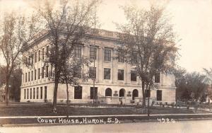 Huron South Dakota~Beadle County Court House~1950s Real Photo Postcard~RPPC