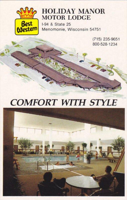 MENOMONIE, Wisconsin, 1940-1960's; Holiday Manor Motor Lodge
