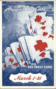 WASHINGTON DC American National Red Cross Ad Old Postcard