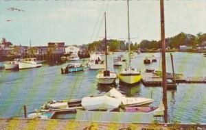 Maine Kennebunkport Boating Scene 1972