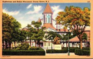 New Jersey Ocean Grove Auditorium and Stokes Monument 1964