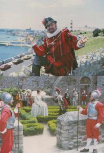 Sir Francis Drake Plymouth Tudor Costume Armada Experience Pageant 2x Postcard s