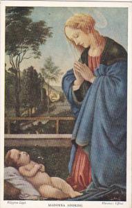 Firenze Madonna Adoring Filippino Lippi