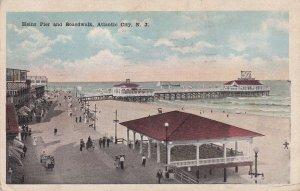 ATLANTIC CITY, New Jersey, PU-1921; Heinz Pier And Boardwalk