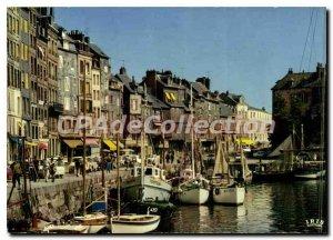 Modern Postcard Honfleur Harbor
