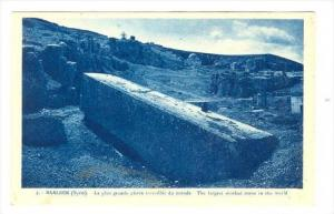 BAALBEK (Syrie now Lebanon), 1910s : La plus grande pierre travaillee du monde