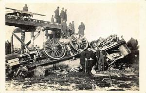 Tarriffville MA Central New England Railway Wreck Real Photo Postcard