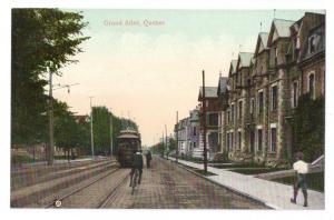 Canada Quebec Postcard Grand Allee Tram Bicycle Trolley