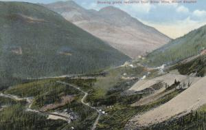 MT. STEPHEN , B.C., Canada, 00-10s ;  Showing grade reduction from Silver Mine