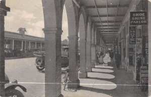 El Centro California Street Scene Shoe Shine Parlor Vintage Postcard AA28526