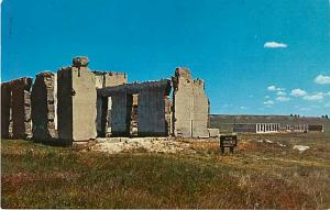 2 Cards with Views of Old Fort Laramie, Wyoming, WY