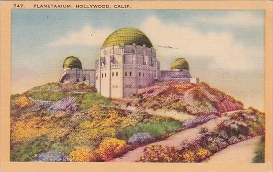 Planetarium Hollywood California 1941