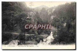 Old Postcard L'Esterel Gorges Evil Infernet