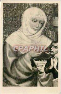 Postcard Modern National Gallery in Prague Master Theodoric St. Elizabeth (fr...