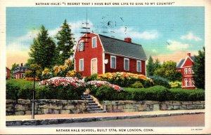Connecticut New London Nathan Hale School Built 1774 1939 Curteich