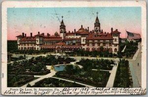 1908 St. Augustine, Florida COPPER WINDOWS Postcard PONCE DE LEON HOTEL