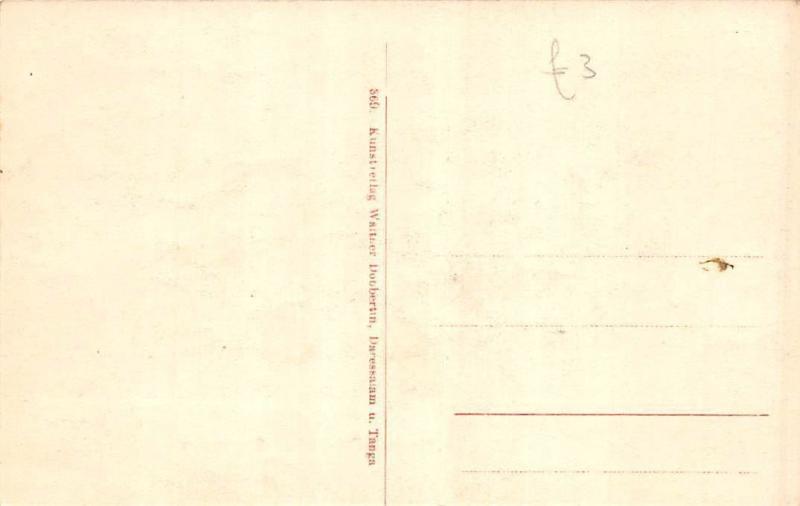 German East Africa Deutsch-Ost-Afrika, Tanzania Bagamoyo, Am Brunnen, Postcard
