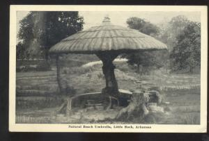LITTLE ROCK ARKANSAS NATURAL BEACH UMBRELLA VINTAGE POSTCARD IONIA MISSOURI