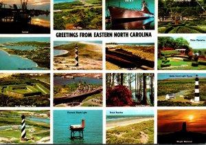 North Carolina Greetings From North Carolina Multi View