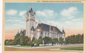 Washington Spokane County Court House Curteich