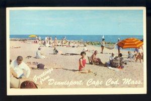 Dennisport, Massachusetts/MA Postcard, Glenden Beach,Cape Cod, 1975!