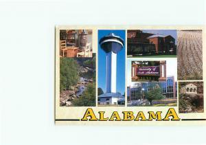 Vintage Postcard University Alabama Little River Canyon Ren Tower AL  # 3257