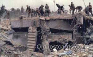 Bombing Of Marine Headquarters, Beirut, Lebanon 1983 Military Postcard Post C...