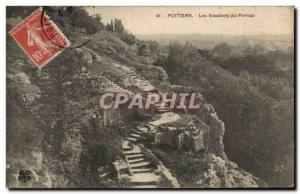 Old Postcard Poitiers Stairs From Porteau