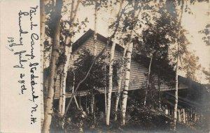 LPS24 Stoddard New Hampshire Birch Camp Postcard RPPC