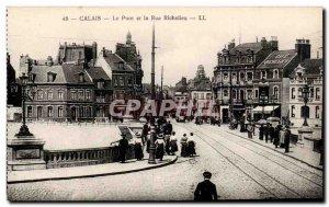 Calais Old Postcard Bridge and the rue de Richelieu