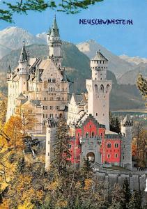 Koenigsschloss Neuschwanstein Castle Chateau Mountains